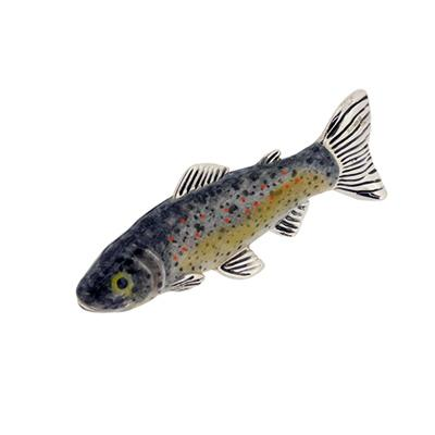 Silver Enamel Brown Trout - Small