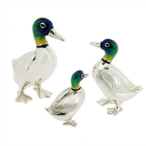 Silver Enamel Duck - Large