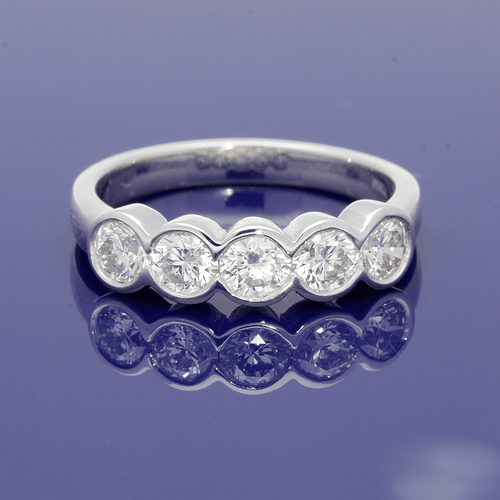 Platinum & Diamond 5-Stone Eternity Ring
