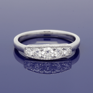 Platinum Graduated Diamond Five Stone Ring