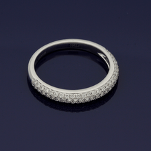 Platinum Pave Set Diamond Triple Row Eternity Ring