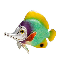Silver Enamel Butterfly Fish – Large