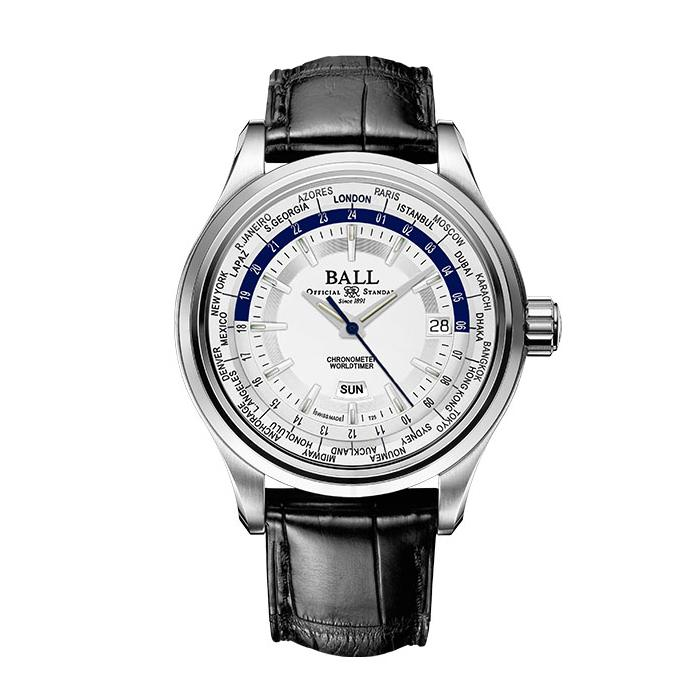 BALL Watch Trainmaster Worldtime, Leather Strap