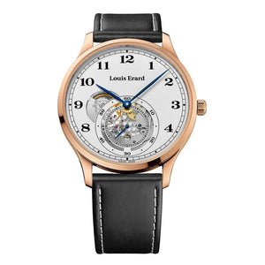Louis Erard Watch 1931 Automatic Openheart Rose Gold PVD