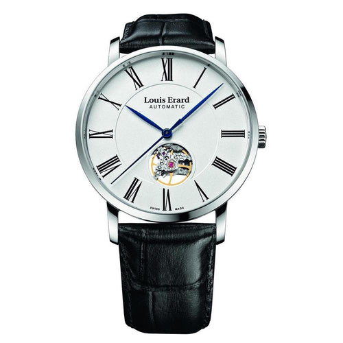Louis Erard Watch Excellence Automatic Openheart, Leather Strap