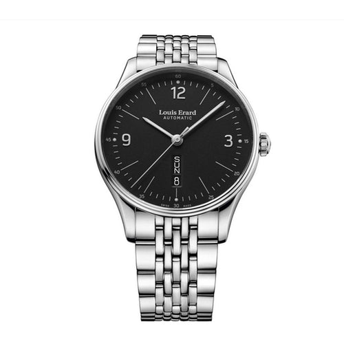 Louis Erard Watch Heritage Classic Day/Date Bauhaus Black