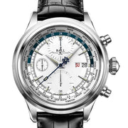 BALL Watch Trainmaster Worldtime Chronograph, Leather Strap