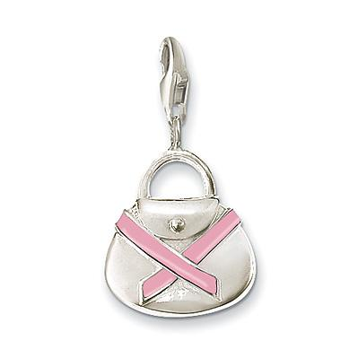 Thomas Sabo Pink Handbag Charity Ribbon Charm 0347-007-9
