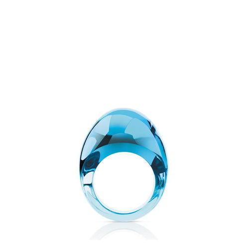 Lalique Gourmande Ring - Light Blue