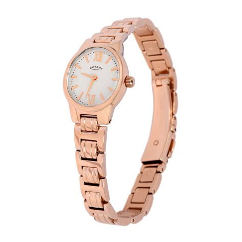 Ladies Rotary Rose Pvd Stainless Steel Bracelet Watch