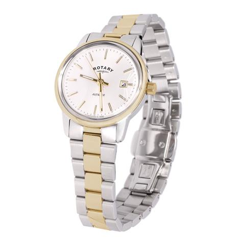 Gents Rotary Two Toned Gold Pvd And Stainless Steel Bracelet Watch