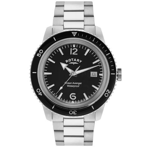 Gents Rotary Stainless Steel Bracelet Watch
