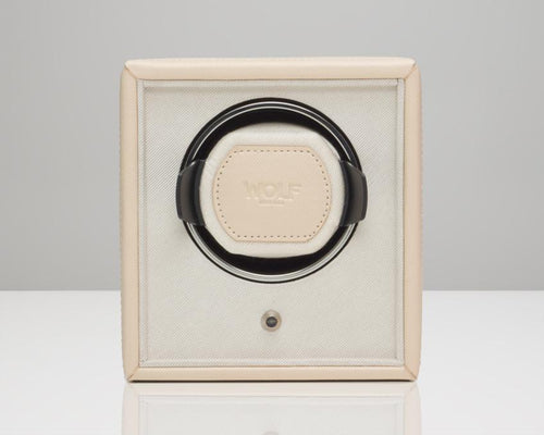 Wolf Cub Single Watch Winder - Cream