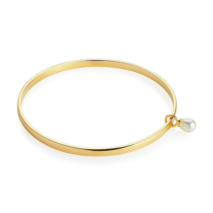 Jersey Pearl Viva Collection Freshwater Pearl Yellow Gold Vermeil Bangle