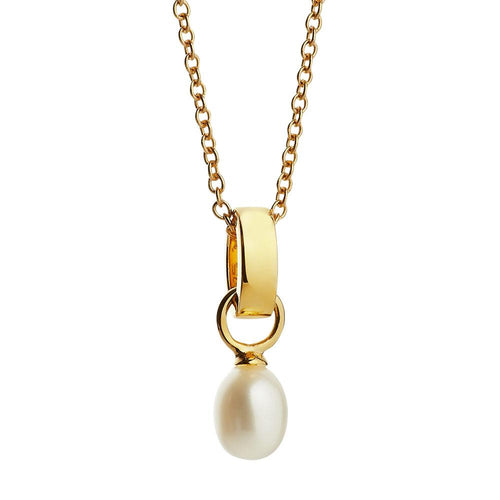 Jersey Pearl Viva Collection Freshwater Pearl Yellow Gold Vermeil Pendant