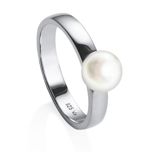 Jersey Pearl Viva Collection Freshwater Pearl Sterling Silver Ring