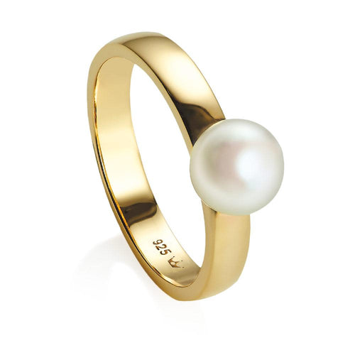 Jersey Pearl Viva Collection Freshwater Pearl Yellow Gold Vermeil Ring