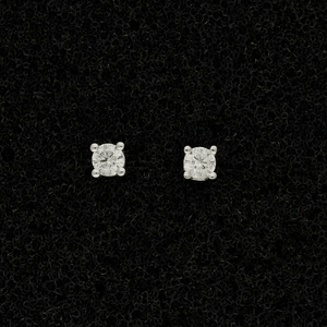9ct White Gold 0.10ct Diamond Stud Earrings