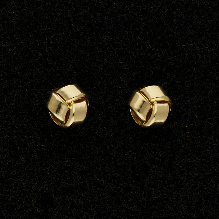 9ct Yellow Gold Love Knot Stud Earrings