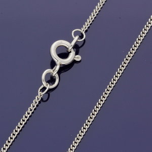 "9ct White Gold 20"" Curb Chain"