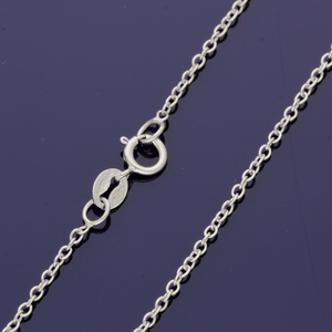 "9ct White Gold 16"" Rolo Chain"