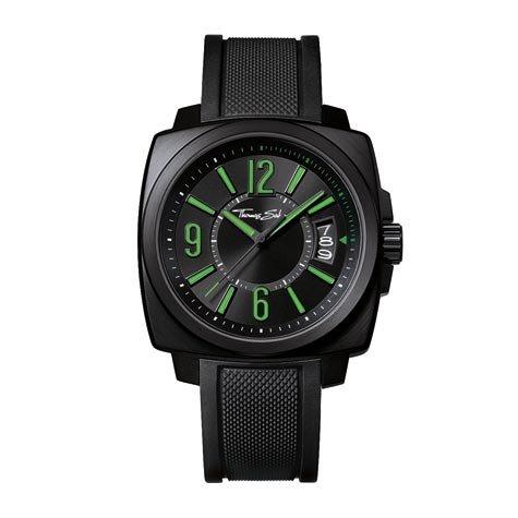 Men's Thomas Sabo Square Silicone Strap Watch