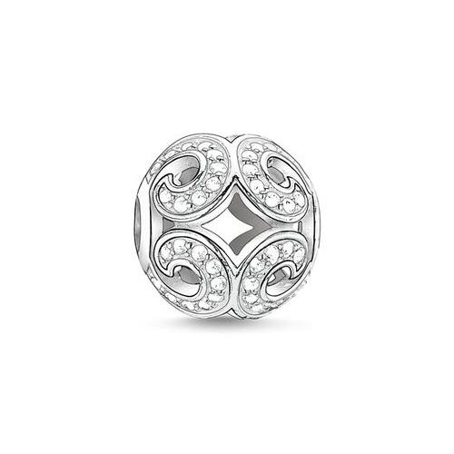 Thomas Sabo Sale -  Sterling Silver Karma Bead Glittering Wave K0012-051-14