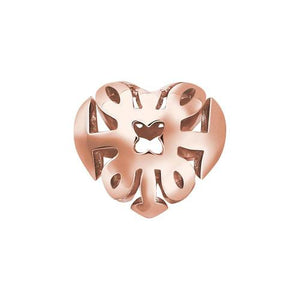 Thomas Sabo Sale -  Sterling Silver Karma Bead Special Edition Rose Gold Plated Heart
