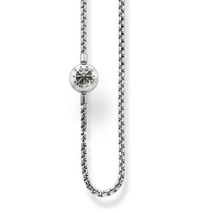Thomas Sabo Sale -  Sterling Silver Karma Bead Blackened Silver 45cm Necklace KK0002-001-12 L45