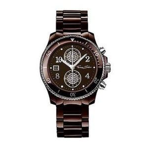 Men's Thomas Sabo Chronograph Brown Ceramic Bracelet Watch