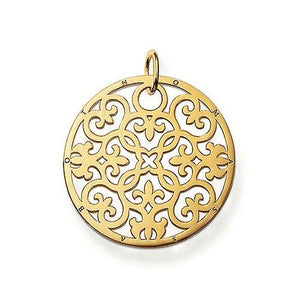 Thomas Sabo Sale - Thomas Sabo Sale - 18ct Yellow Gold Plated Silver Ornament Pendant PE431-413-12