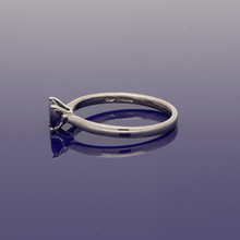 9ct White Gold Oval Cut Sapphire Solitaire Ring