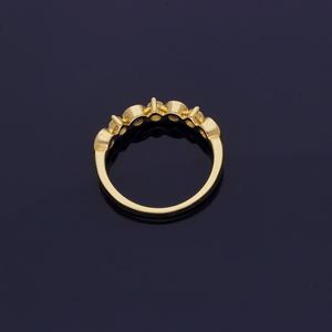 9ct Yellow Gold Diamond and Sapphire Half Eternity Ring