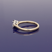9ct Yellow Gold Oval Sapphire & Diamond Trilogy Ring