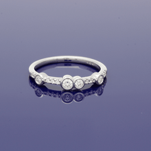 18ct White Gold and Diamond Eternity Style Ring