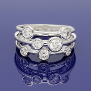 Platinum and Diamond Triple Row Dress Ring
