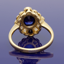 18ct Yellow Gold Sapphire and Diamond Dress Ring
