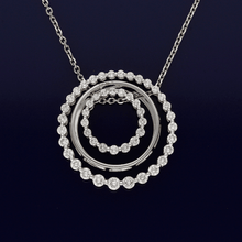 18ct White Gold Contemporary Diamond Trio Necklace