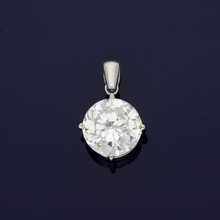 9ct White Gold & Cubic Zirconia Pendant