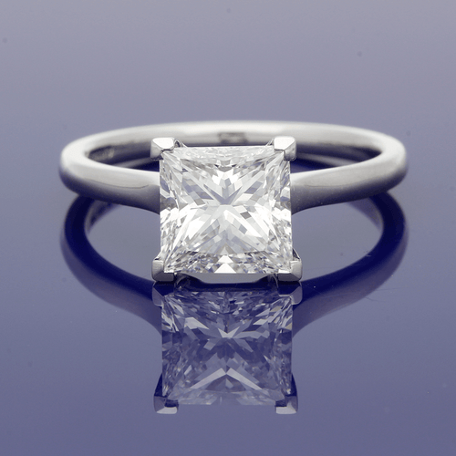 Platinum 2.05ct Princess Cut Diamond Ring