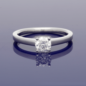 Platinum & Diamond Round Brilliant Cut Solitaire Ring