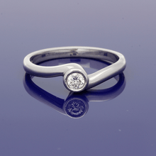 9ct White Gold and Diamond Solitaire Ring