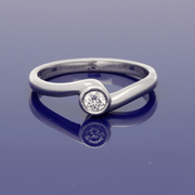 9ct White Gold 0.15ct Diamond Solitaire Ring