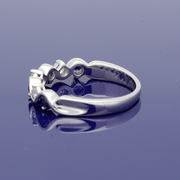 9ct White Gold Sapphire and Diamond Half Eternity Ring