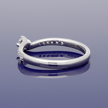 9ct White Gold and Diamond Twist Ring