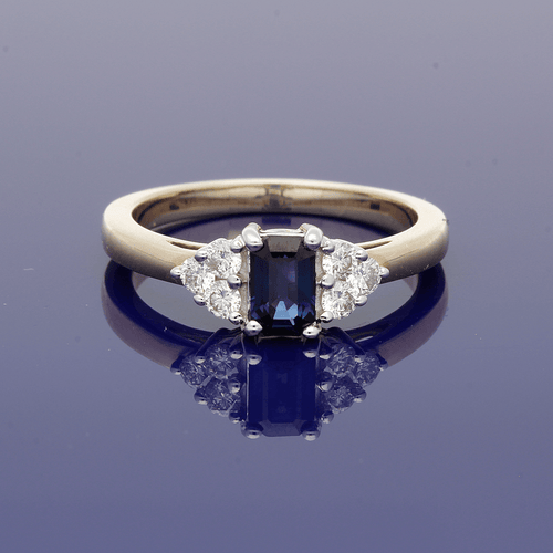 9ct Gold Sapphire and Diamond Cluster Ring