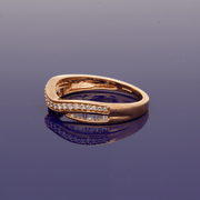 9ct Rose Gold Diamond Curved Eternity Ring