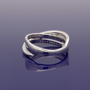 9ct White Gold and Diamond Ring
