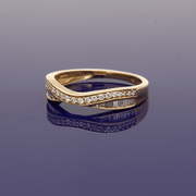 9ct Yellow Gold Diamond Curved Eternity Ring