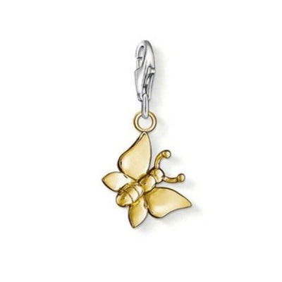 Thomas Sabo Gold Plated Butterfly charm 0914-413-12
